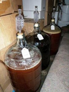 Carboys in Secondary Fermentation